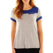 Susan Lawrence Contrast-Trim Tee