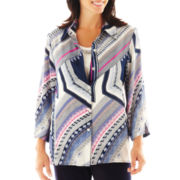 Alfred Dunner® Sweet Temptations Geometric Layered Blouse