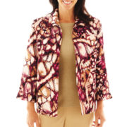 Alfred Dunner® Circle Oaks Abstract-Print Jacket