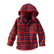 OshKosh B'gosh® Flannel Zip-Front Hoodie – Boys 4-7x