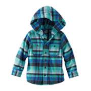 OshKosh B'gosh® Flannel Zip-Front Hoodie – Boys 4-7x
