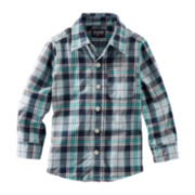 OshKosh B'gosh® Long-Sleeve Button-Front Plaid Shirt – Boys 4-7x