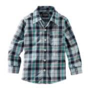 OshKosh B'gosh® Long-Sleeve Button-Front Plaid Shirt – Boys 4-7x
