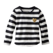 OshKosh B'gosh® Long-Sleeve Striped Knit Top – Girls 4-6x