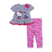 Hello Kitty® Short-Sleeve Top and Leggings Set – Girls newborn-9m