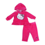 Hello Kitty® 2-pc. Zip-Front Hoodie and Pants Set – Girls newborn-9m
