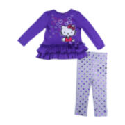 Hello Kitty® 2-pc. Long-Sleeve Top and Leggings Set – Girls 12m-24m