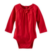 OshKosh B'gosh® Long-Sleeve Knit Bow Bodysuit – Girls 3m-24m