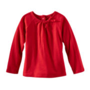 OshKosh B'gosh® Long-Sleeve Knit Bow Top – Girls 2t-4t