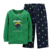 Carter's® 2-pc. Thermal Dinosaur Pajama Set – Boys 12m-24m