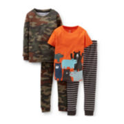 Carter's® 4-pc. Bear Camo Pajama Set – Boys 6m-24m