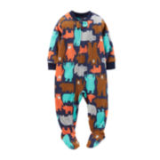 Carter's® Long-Sleeve Microfleece Bear-Print Pajamas – Boys 2t-5t