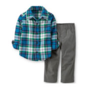 Carter's® 2-pc. Flannel Shirt and Pants Set – Boys newborn-24m