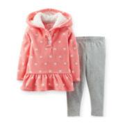 Carter's® 2-pc. Long-Sleeve Hooded Top and Leggings Set – Girls newborn-24m