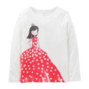 Carter's® Long-Sleeve Princess Tee – Girls 3m-24m