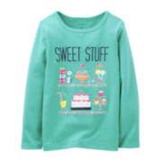 Carter's® Long-Sleeve Graphic Tee – Girls 3m-24m