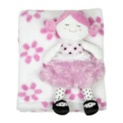 2-pc. Pink Blanket and Doll Set