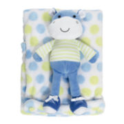 2-pc. Hippo Blanket and Doll Set