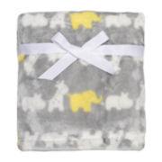 Micro-Velour Plush Animal Blanket