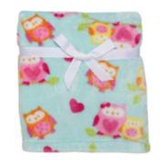 Micro-Velour Plush Owl Blanket