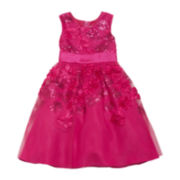 Rare Editions Sleeveless Sequin Soutache Dress - Girls 2t-6