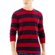 Arizona Rugby-Striped Thermal Pullover
