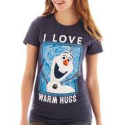 Juniors Disney Frozen Olaf Graphic Tee