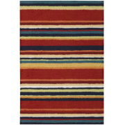 Nourison® Stripes Washable Rectangular Rug