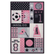 Varsity Sports Washable Rectangular Rug
