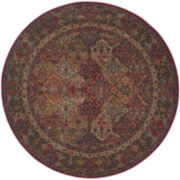 Karastan® Multi-Panel Kirman Wool Round Rug
