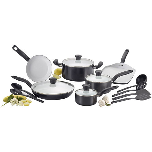 T-Fal® Ceramic Initiatives 16-pc. Ceramic Cookware Set