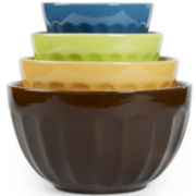 Tabletops Gallery 4-pc. Café Mixing Bowl Set