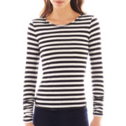 Bisou Bisou® Long-Sleeved Shirred Top