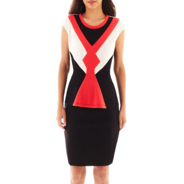jcpenney.com | Worthington® Colorblock Peplum Top or Modern Seamed Pencil Skirt