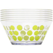 Zak Designs® Dot Dot Set of 6 Plastic Serving Bowls