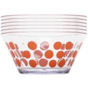 Zak Designs® Dot Dot Set of 6 Plastic Serving Bowls