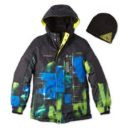 ZeroXposur® Snowboard Jacket and Hat - Boys 6-20