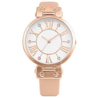 jcpenney.com | Mixit® Womens Gold-Tone and Pink Bangle Watch