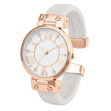 jcpenney.com | Mixit® Womens Rose-Gold-Tone and Gray Bangle Watch