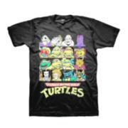 Short-Sleeve Ninja Turtles Grid Cotton Tee
