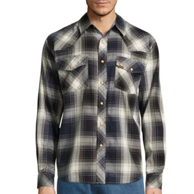 jcpenney.com | Smith's Workwear Long-Sleeve Plaid Western Shirt with Snaps