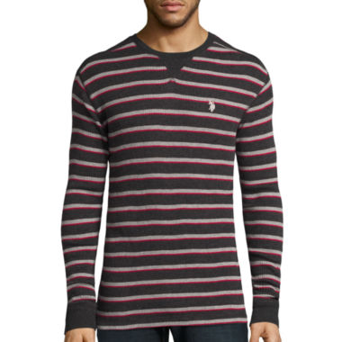 jcpenney.com | U.S. Polo Assn.® Long-Sleeve Striped Thermal Shirt