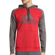 adidas® Long-Sleeve Team Issue Applique Pullover Hoodie