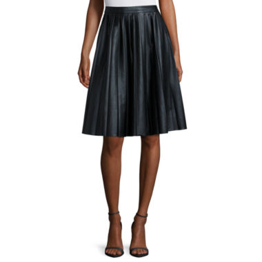 jcpenney.com | Worthington® Pleather Pleated A-Line Skirt - Petite