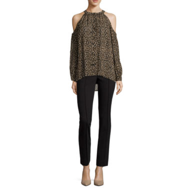 jcpenney.com | nicole by Nicole Miller® Long-Sleeve Cold-Shoulder Top or Ankle Pants