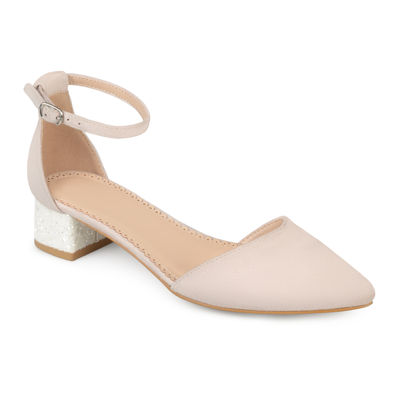 Journee Collection Maisy Womens Pumps Buckle Pointed Toe Block Heel by Journee Collection