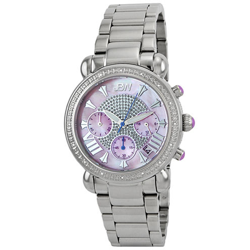 JBW Victory Womens 1/6 CT. T.W. Diamond Stainless Steel Bracelet Watch JB-6210-F