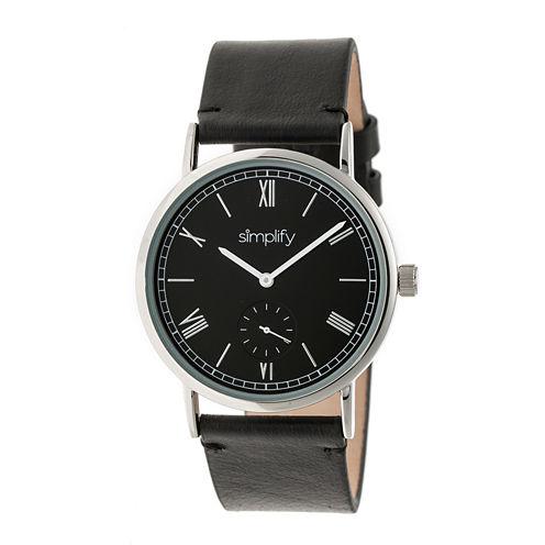 Simplify Mens Black Strap Watch-Sim5102