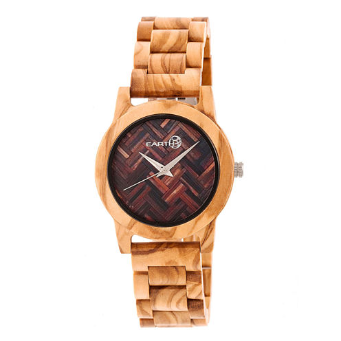 Earth Wood Crown Unisex Brown Bracelet Watch-Ethew4501