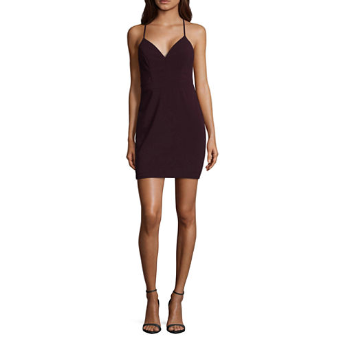 City Triangle Sleeveless Bodycon Dress-Juniors
